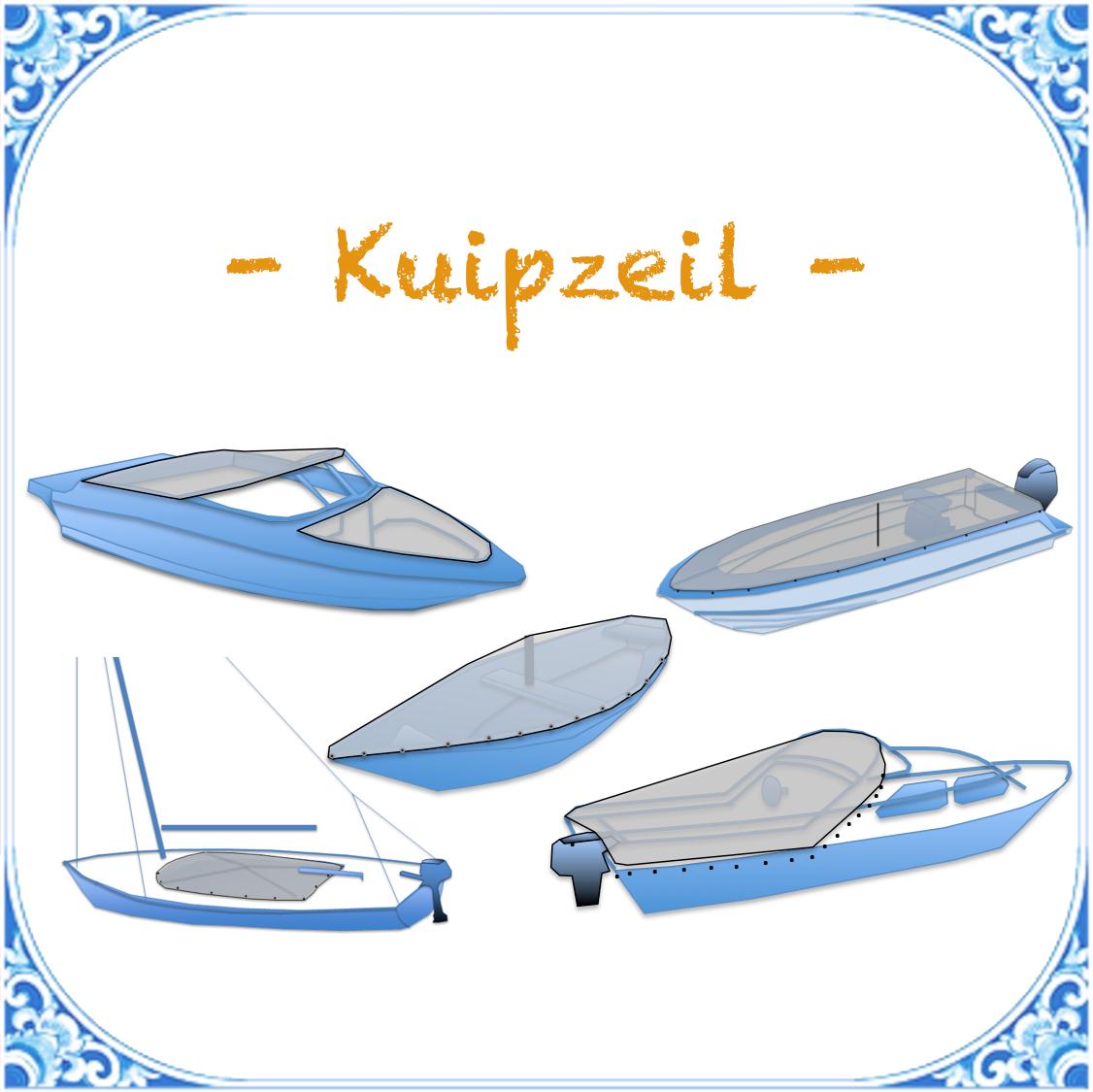 kuipzeil open boot zeilboot speedboot open bow