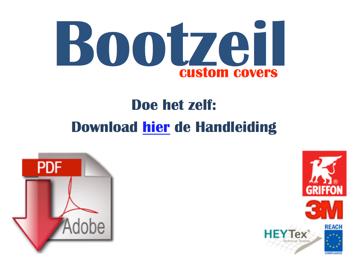 download handleiding Bootzeil