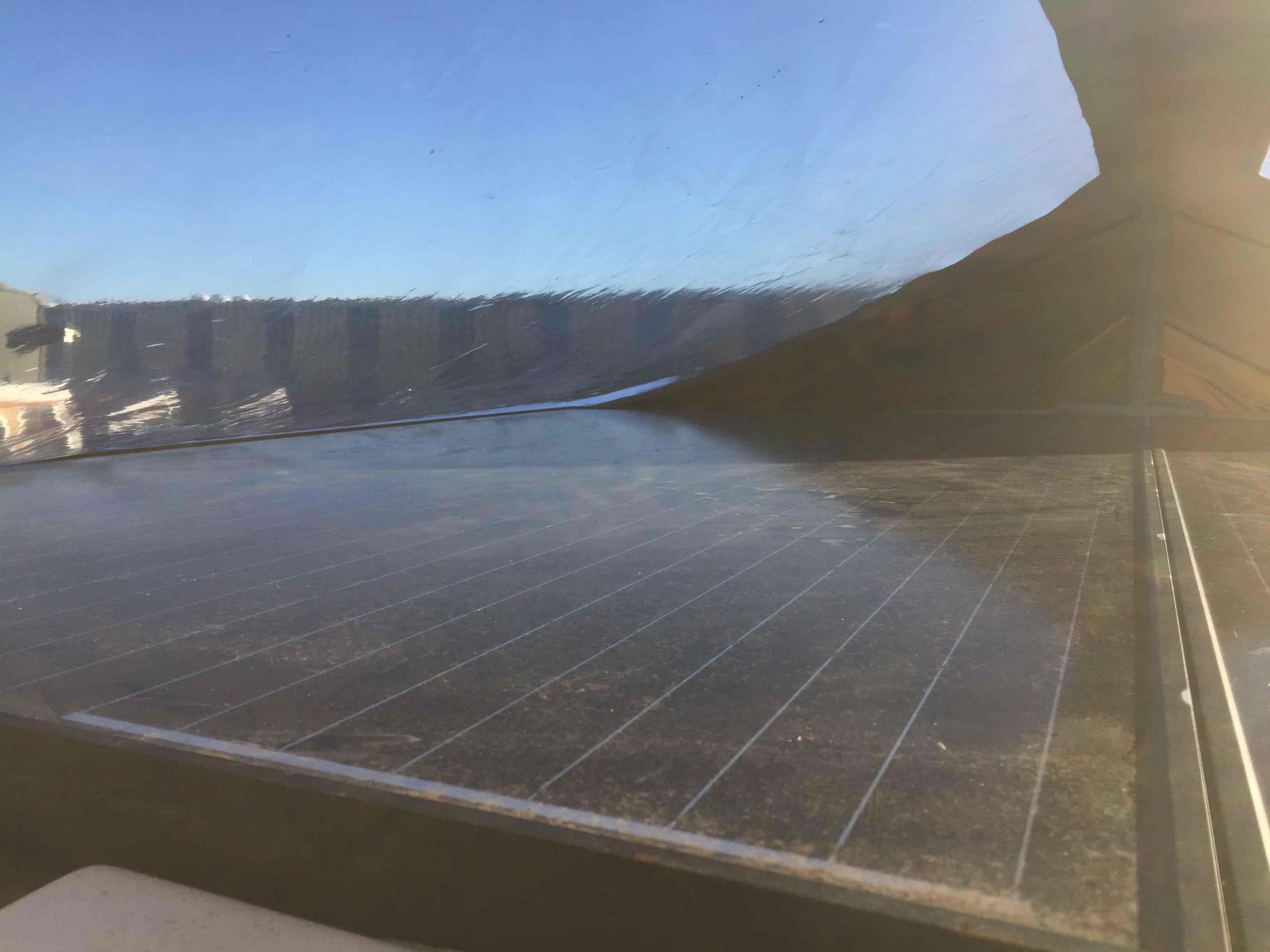 Raam zeil zonnepanelen