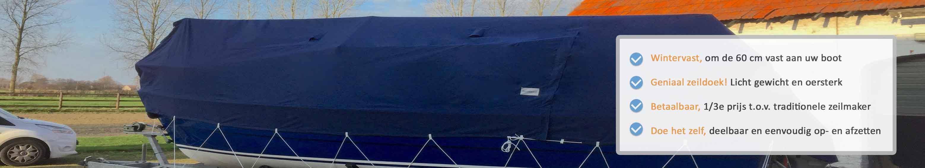 dektent boot liggende mast