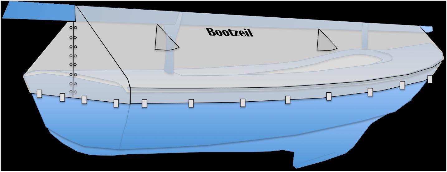 open zeilboot lengter