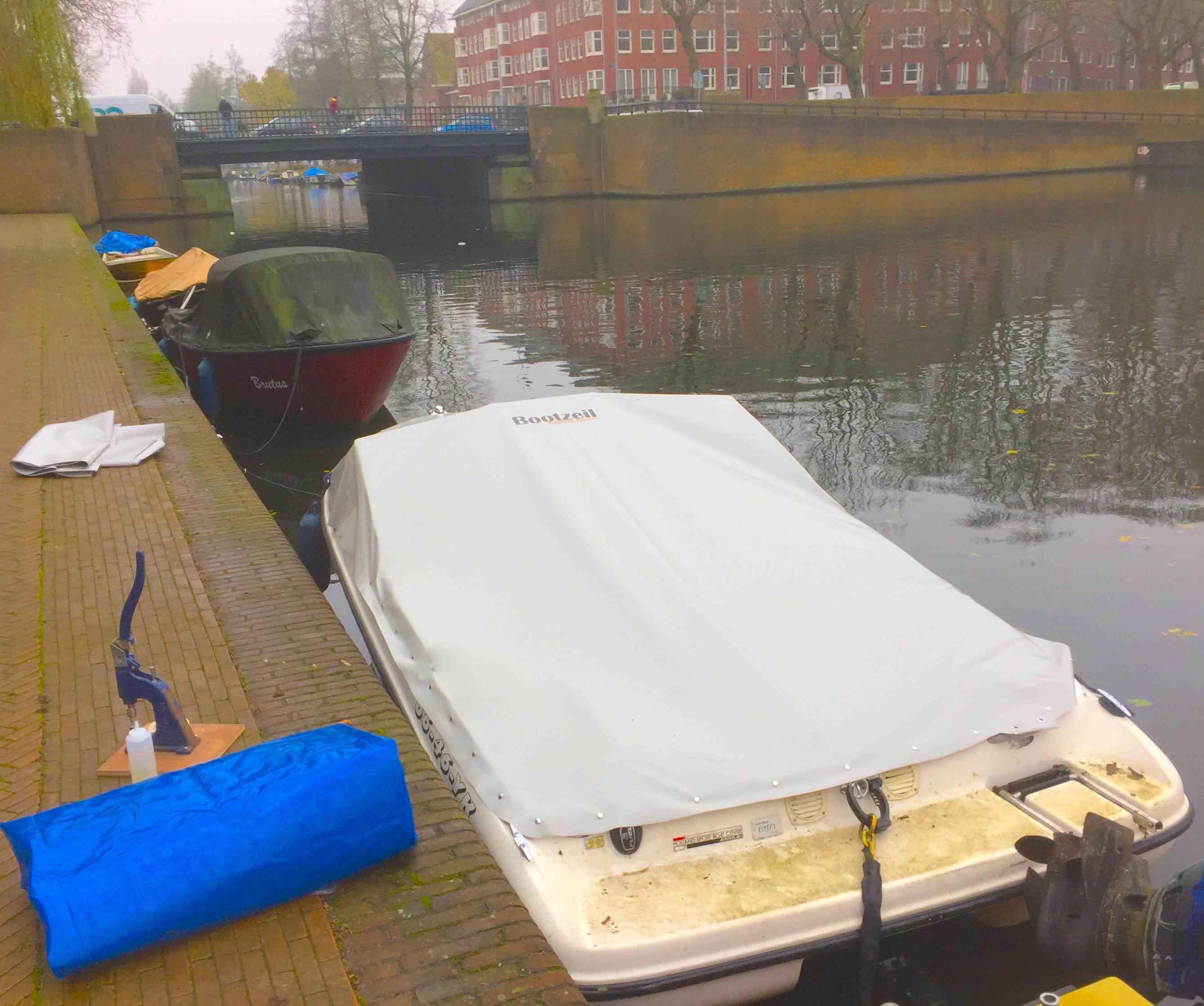 kuipzeil speedboot drukkers