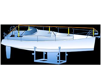 frame zeilboot dekzeil zonder mast